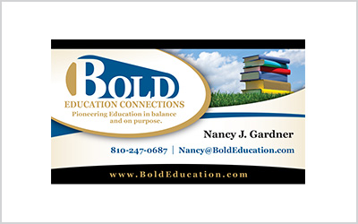 Business card for Bold Education