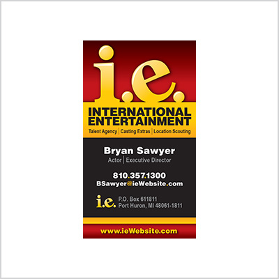 Business card for International Entertainment