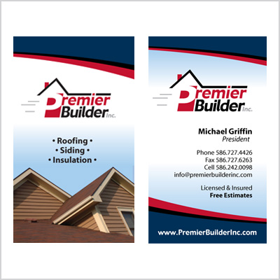 Business card for Premier Builder