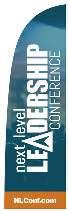 Flag banner for Next Level Leadership Conference