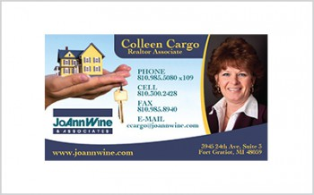 Business card for Realtor Coleen Cargo