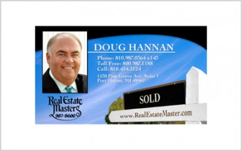 Business card for Real Estate Agent Doug Hannan