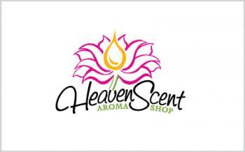 Heaven Scent Aroma Shop Logo