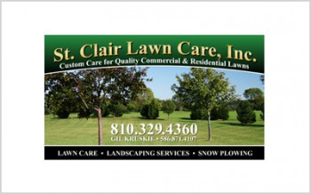 Business card for St. Clair Lawn Care