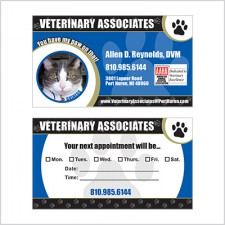Two-sided business card for Veterinary Associates